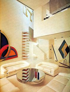 Kind of forward contemporary design for the 1970s, it looks like it could be right at home on the set of Miami Vice (which I am all for). | 16 Chic 1970s Interiors You Would Want To Live In