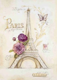 Eiffel Tower Roses Angela Staehling