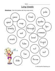 Más de 25 ideas increíbles sobre Long vowel worksheets en