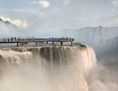 Amazing water walk viewing platform at iguazu Falls.  the sound must be deafening. I'd love to be there