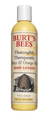 BURT'S BEES ORIGINAL FORMULA BODY LOTION HONEY  ORANGE WAX   eBay  Note:  All- Time Favorite Lotion! SO Difficult to find! A friend found it at a grocery store she works at in Valparaiso In. (Where I used to live) Sent  a bottle but when she  looked  again, couldn't find any!  Have YET to find ANY in Wy. or ANYWHERE for that matter. Therapist Cindy introduced it to me. Her favorite too. Found it once at a boutique in town, Now they don't carry it! Figures! Not sure if they  still even make…
