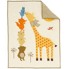 The Land of Nod | Baby Crib Bedding: Baby Coloful Animals Crib Bedding in Crib Bedding
