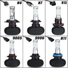 Auxmart Kit Luces Delanteras Del Coche LED H4 H7 HB3 HB4 9005 9006 H11 50 w/set csp 8000lm virutas del cree del bulbo auto lámpara de cabeza para toyota honda VW