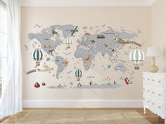 Airplane World Map Decal - Clear Vinyl Decal - Boys Room Decals - World Map Mural - Hot Air B. - Airplane World Map Decal – Clear Vinyl Decal – Boys Room Decals – World Map Mural – Hot Air Balloon World Map – Custom Name Map – Animal world map , - World Map Mural, Kids World Map, World Map Decor, World Maps, World Map Painting, World Map Poster, Wallpaper Wall, World Map Wallpaper, Bedroom Wallpaper