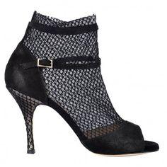 Bandolera Tango Shoes Intrigo Rete nera Tacco 9