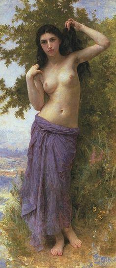 William Bouguereau, Beauté romaine (1904). ◉ [Fondation Juan Antonio Pérez Simon, Mexico]