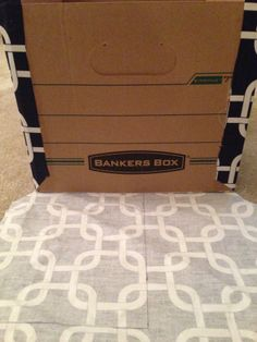Fabric Covered Bankers Boxes. Perfect size for files!! :)