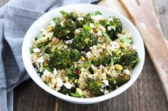 Roasted Broccoli Quinoa Salad Recipe on twopeasandtheirpod.com We love this quick, easy, and healthy salad!