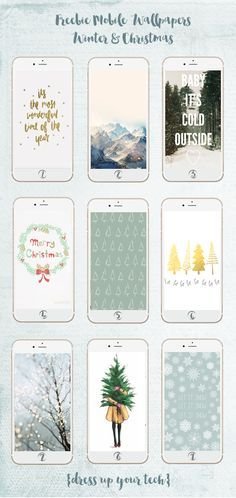 Freebie Mobile Wallpapers Collection {Winter & Christmas}