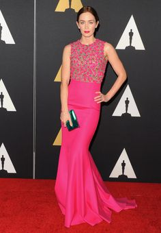 Emily Blunt wears Michael Kors to the Academy Of Motion Picture Arts And Sciences' Governors Awards. via @stylelist