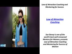 Law of Attraction Coaching | Mentors for Women by Nicole Halstead via slideshare Law Of Attraction Coaching, Affirmations, Sunglasses Women, Success, Positive Affirmations, Confirmation, Affirmation Quotes