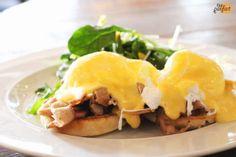 eggs benedict x porchetta x english muffin :: Brassaii, Toronto