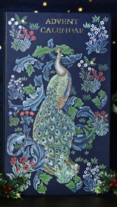 Morris & Co. Beauty 2019 Advent Calendar Blue Forest Peacock Print With 24 x Bath & Body Items Assorted Beauty Christmas Presents Beauty Advent Calendar, Blue Forest, Peacock Print, English Heritage, Dress Up Costumes, Christmas Presents, Bath And Body, Floral, Painting