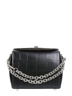 2a639198ce30 Alexander McQueen Box Bag 16 crocodile-effect leather cross-body bag Box Bag
