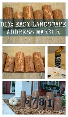Easy DIY address marker with a piece of edging and paint.