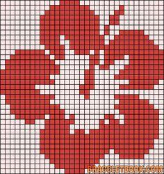 Alpha Friendship Bracelet Pattern added by Hawai, flower. Tiny Cross Stitch, Cross Stitch Tree, Modern Cross Stitch, Cross Stitch Flowers, Cross Stitch Patterns, Maori Patterns, Alpha Patterns, Filet Crochet Charts, Knitting Charts