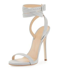 Alien+Suede+Ankle-Wrap+120mm+Sandal,+Gray+by+Giuseppe+Zanotti+for+Jennifer+Lopez+at+Neiman+Marcus.