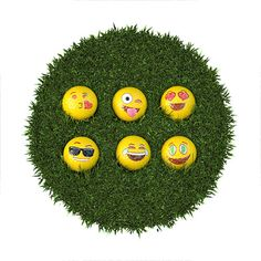 Emoji Universe: 2-Ply Professional Practice Golf Balls For the Golf Loving Dad.  This dad always wants to improve his game. Don't you want to help out? With this 12-pack Emoji Professional Practice Golf Balls, he will lower his golf score while he has fun hitting those faces from your phone! They are great for Golf Practice or Miniature Golf. One amazing Father's Day gift!