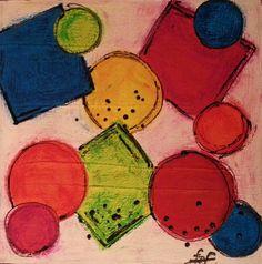 Colourful forms...3/30 cm x 30 cm