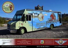 The Maine Lobster Lady Food Truck Built by Cool Blue Customs in Florida.