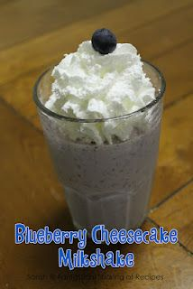 Fantastical Sharing of Recipes: CCC: Blueberry Cheesecake Milkshake Blueberry Recipes, Blueberry Cheesecake, Blueberry Farm, Food C, Love Food, Fruit Smoothies, Smoothie Recipes, Drink Recipes, Cooking Challenge