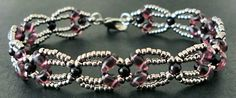 Linda's Crafty Inspirations: Bracelet of the Day: Nouveau SuperDuo Chain