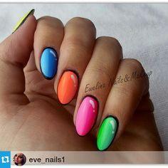 CARTOON MANICURE z aż 12 odcieniami Semilac :) Filmik już na yt i fb ;) @eve_nails1 ・・・ Komiksowe paznokcie! #semilac #diamondcosmetics #ilovesemilac  #hybrid #manicure