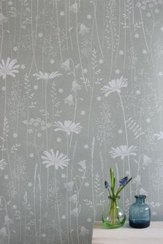 SAMPLE // Sage Green Floral Daisy Meadow Botanical Woodland Wallpaper // Daisy Meadow in 'Sage' by Hannah Nunn Natur Wallpaper, Daisy Wallpaper, Green Wallpaper, Wallpaper Roll, Latest Wallpaper Designs, Latest Wallpapers, Dandelion Clock, Paper Light, Decoration Home