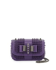 Sweet Charity Small Spiked Crossbody Bag, Violet by Christian Louboutin at Neiman Marcus.