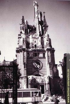 Berliner Unterwelten e.V. | Der Volkspark Humboldthain,Ruine der Himmelfahrtkirche 1945