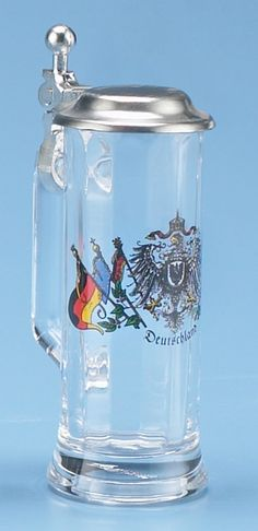 Deutschland Glass Beer Steins - German Made Beer Steins -