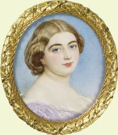 PRINCESS MARY ADELAIDE OF CAMBRIDGE, later Duchess of Teck by Sir William Charles Ross 1856. Mother of QUEEN MARY consort of KING GEORGE V. Portrait commissioned by her cousin Queen Victoria. (Royal Collection UK)