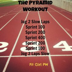 Pyramid Sprint Workout