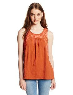 Lucky Brand Women`s Rosalina Embroidered Top - Listing price: $59.50 Now: $53.99