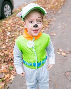 """My little man being his favourite character from paw patrol """"Rocky""""! He was the happiest kid tonite :) #halloween #pawpatrol #rockypawpatrol #costume #rockypawpatrolcostume #instakids #puppy #puppycostume #momlife #halifax"""