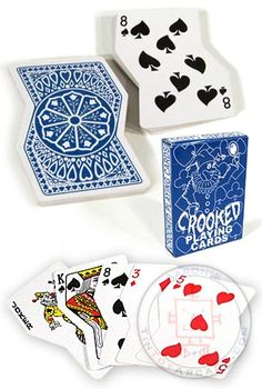 Crooked Playing Cards..... You wouldn't wan to be using these if you had to much to drink!!!