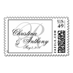 Monogram Wedding Postage Stamps|Custom Stamps