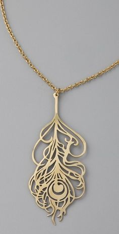 Monserat De Lucca  Feather Necklace  Style #:MONSE20035  $60.00  could totally have made this in jewelry!