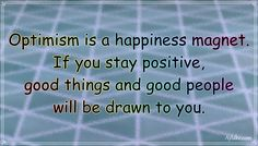 """""""Optimism is a happiness magnet. If you stay positive, good things and good people will be drawn to you."""" – Mary Lou Retton #aylake #happiness #quotes #happinessquotes Money And Happiness, Happiness Quotes, Happy Quotes, Mary Lou Retton, Things To Come, Good Things, Staying Positive, Optimism, Good People"""