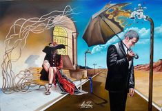 """Waiting for the rain"" Oil on canvas. #MihaiRaceanuAdrian Facebook Page #art #painter #painting #surrealism"