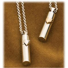 Cremation Necklace-Silver Heart Urn Jewelry