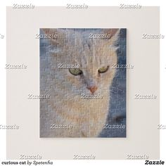 curious cat jigsaw puzzle Curious Cat, Make Your Own Puzzle, Custom Gift Boxes, Kittens Cutest, High Quality Images, Jigsaw Puzzles, Kitty, Pets, Pictures