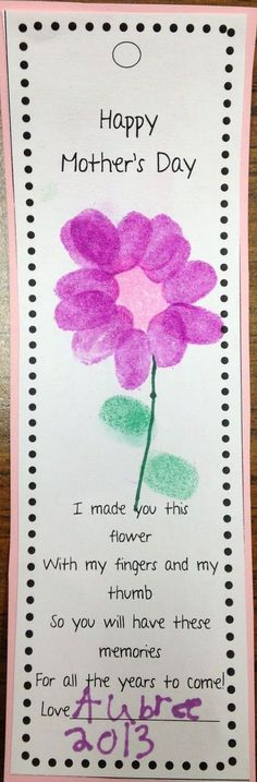 Savvy Second Graders: Mother's Day Bookmarks #childcareideas