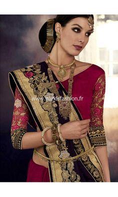 Sari mariage Vidhya - Violet #Sari #Saree #Indian #Bollywood #NarkisFashion #Mariage #Bridal