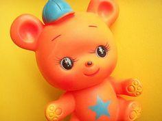 Kawaii Vintage Japan Rubber Doll Squeak Bear Japanese Toy 70s by Kawaii Japan, via Flickr