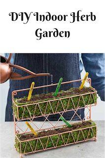Frugally Farming Family: DIY Indoor Herb Garden #diyindoorgarden #growyourown #afflink #herbgarden