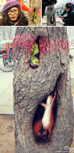 Wang Yue dipinge alberi....