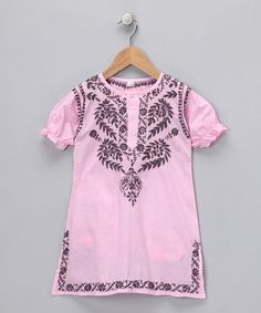 Take a look at this Pink & Pewter Embroidered Dress - Infant & Toddler by Alejandra Kearl Designs on #zulily today! SALE 10/17-10/20/12 at 6am.    Love Pink and Pewter!