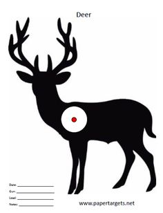 photograph relating to Printable Deer Targets named 8 Suitable Deer aims photographs in just 2014 Deer ambitions, Concentrate, Deer