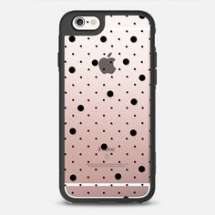 Pin Point Polka Dot Black Transparent - New Standard Case